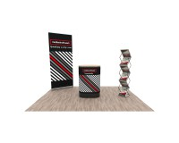 Promotionstand Set 1 - Roll-Up Displays, Promotiontheke und Prospektständer