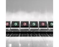 Sitzen verboten / gestattet - Aufkleber - Set