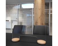 Spuckschutz Design-Holzfuß - Set - Beispiel