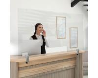 Spuckschutz-Wand individuell mit universal Tischhalterung