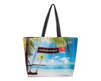 Umhängetasche / Strandtasche mit eigenem Logo als Werbeartikel bedrucken