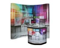 SuperSonic® EVO gebogen - Faltdisplay mit LargeBox Transportkoffer