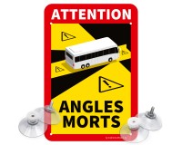 "Toter Winkel - Angles Morts ""Bus"" - Schild Set"