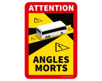 "Toter Winkel - Angles Morts ""Bus"" - Aufkleber Set"