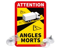 "Toter Winkel - Angles Morts ""LKW"" - Schild Set"