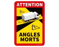 """Toter Winkel - Angles Morts """"LKW"""" auf Magnetfolie - Set"""
