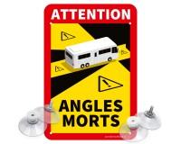 "Toter Winkel - Angles Morts ""Wohnmobil"" - Schild Set"