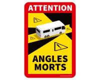 "Toter Winkel - Angles Morts ""Wohnmobil"" - Aufkleber Set"