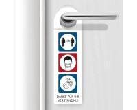 Türhänger mit  Hygienehinweisen - 8 x 27,5 cm
