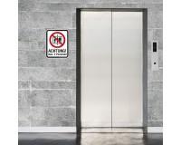 Aufzug max 2 Personen - Verbotsschild - Anwendungsbeispiel
