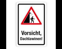 Schild Vorsicht vor Dachlawinen (2) auf Forex