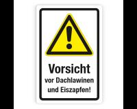 Schild - Vorsicht vor Dachlawinen und Eiszapfen (2) auf Forex