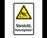Schild - Vorsicht, Rutschgefahr! - Forex 3mm