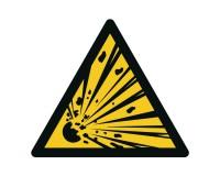 Warnschild Warnung vor explosionsgefährlichen Stoffen - W002