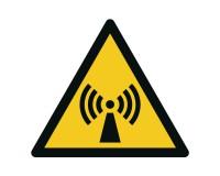 Warnschild Warnung vor elektromagnetischer Strahlung - W005