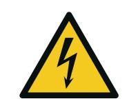 Warnschild Elektrische Spannung - W012