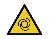 Warnschild Warnung vor automatischem Anlauf - W018