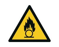 Warnschild Warnung vor Brandfördernden Stoffen - W028