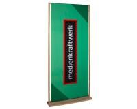 WoodStand Display 90x220cm inkl. Druck - Unser nachhaltiges / ressourcenschonendes Werbedisplay