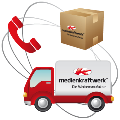 Lieferung, Telefonservice, Verpackung