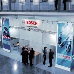 Ein Messestand von Bosch