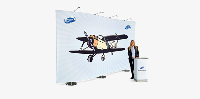 Textildisplay - Expolinc Fabric Theke + Display