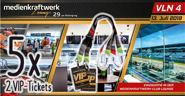 Gewinnspiel 5 x 2 VIP Tickets für VLN 4 am 13.07.2019 am Nürburgring