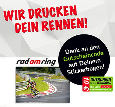 Rad am Ring 2018 - Wir drucken Dein Rennen!