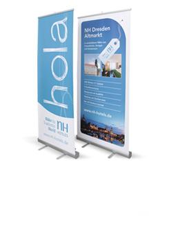 RollUp-Display Banner - Effektie Werbung an jedem Ort!